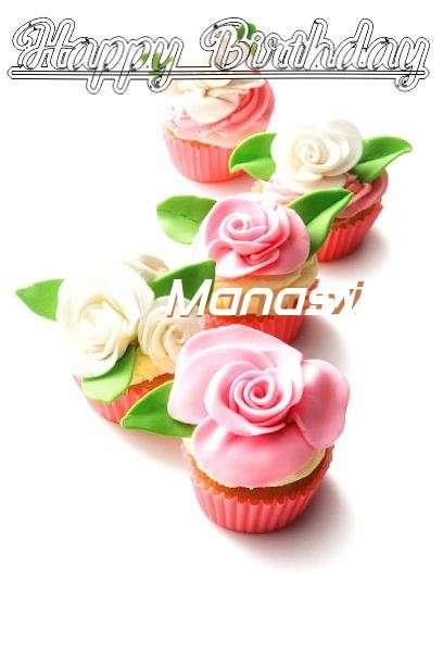 Happy Birthday Cake for Manasvi