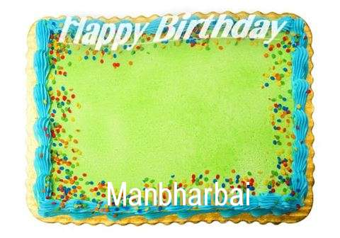 Happy Birthday Manbharbai Cake Image