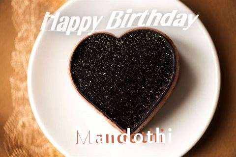 Happy Birthday Mandothi Cake Image