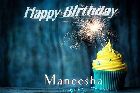 Happy Birthday Maneesha Cake Image