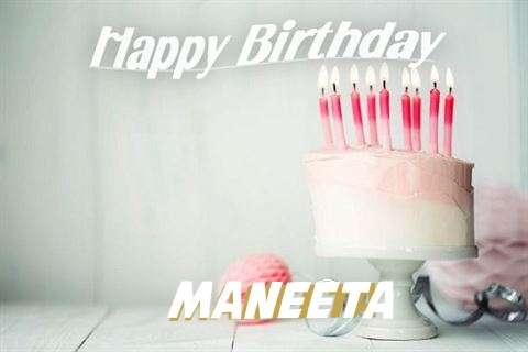 Happy Birthday Maneeta Cake Image