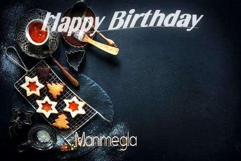 Happy Birthday Manimegla Cake Image