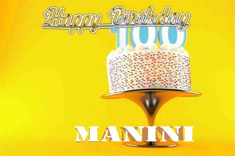 Happy Birthday Wishes for Manini