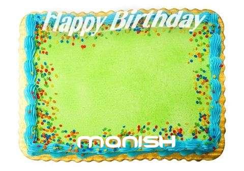 Happy Birthday Manish Cake Image