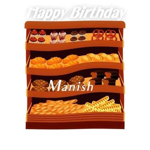 Happy Birthday Cake for Manish
