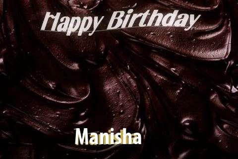 Happy Birthday Manisha Cake Image