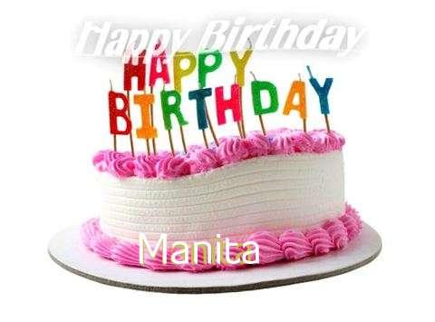 Happy Birthday Cake for Manita
