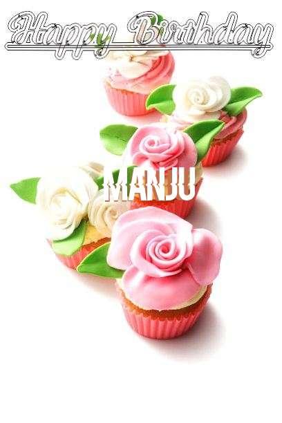 Happy Birthday Cake for Manju