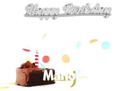 Happy Birthday Cake for Manoj