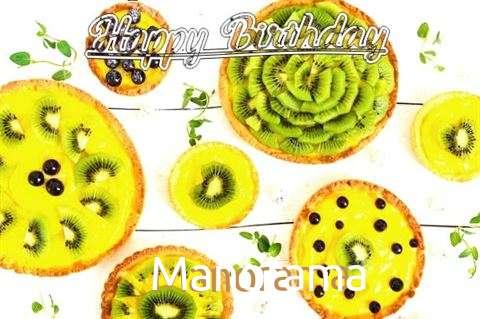 Happy Birthday Manorama Cake Image