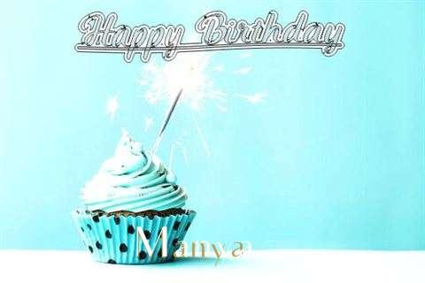 Happy Birthday Cake for Manya