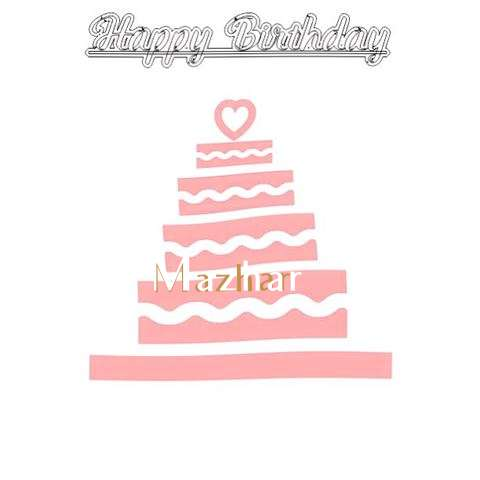 Happy Birthday Mazhar Cake Image