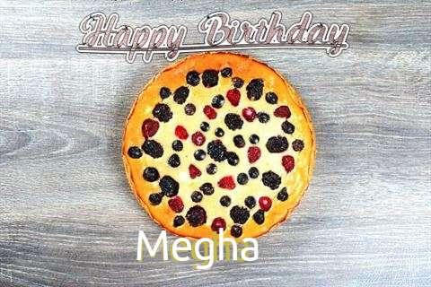 Happy Birthday Cake for Megha