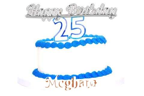Happy Birthday Meghana Cake Image