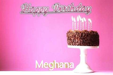 Happy Birthday Cake for Meghana