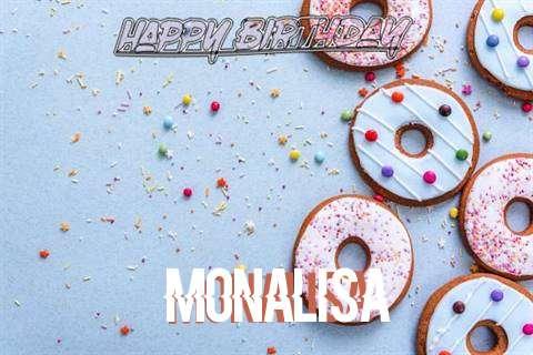 Happy Birthday Monalisa Cake Image