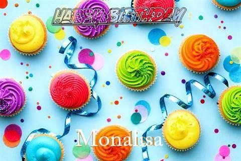 Happy Birthday Cake for Monalisa