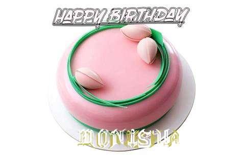 Happy Birthday Cake for Monisha