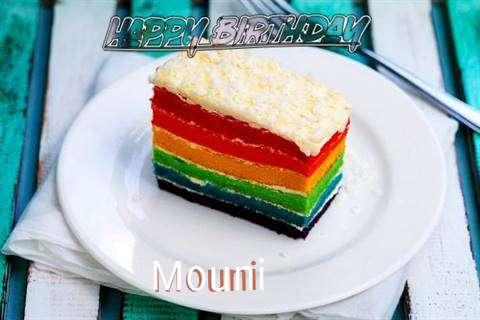 Happy Birthday Mouni Cake Image