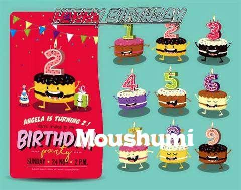 Happy Birthday Moushumi Cake Image