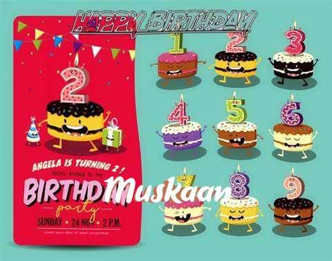 Happy Birthday Muskaan Cake Image