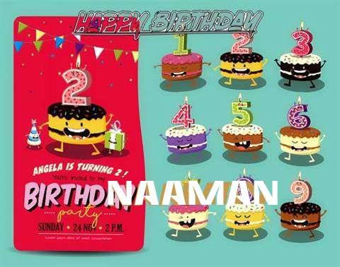 Happy Birthday Naaman Cake Image