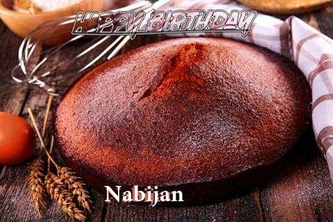 Happy Birthday Nabijan Cake Image