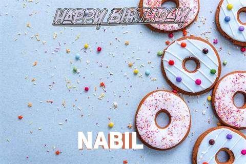 Happy Birthday Nabil Cake Image