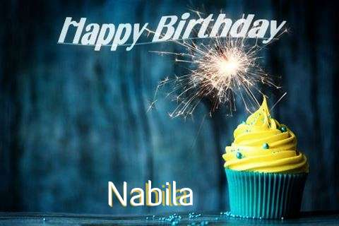 Happy Birthday Nabila Cake Image