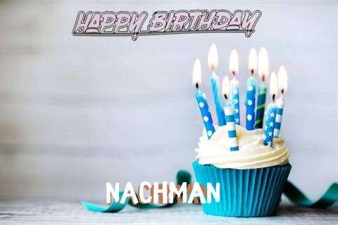 Happy Birthday Nachman Cake Image