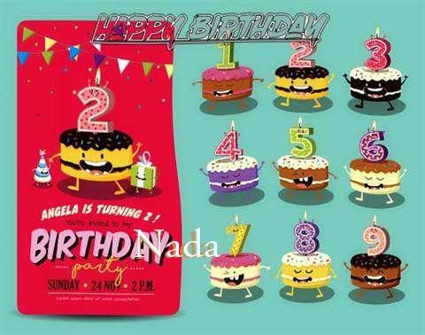 Happy Birthday Nada Cake Image