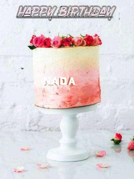 Happy Birthday Cake for Nada
