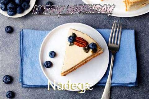 Happy Birthday Nadege Cake Image