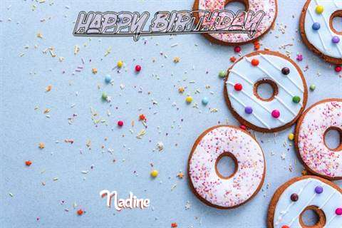 Happy Birthday Nadine Cake Image
