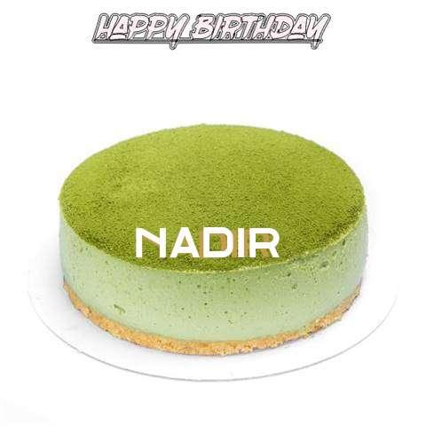 Happy Birthday Cake for Nadir