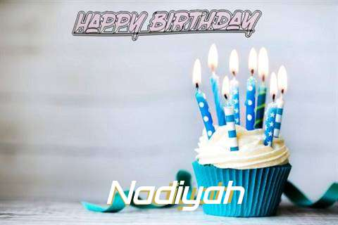 Happy Birthday Nadiyah Cake Image