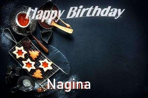 Happy Birthday Nagina Cake Image