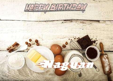 Happy Birthday Naguan Cake Image