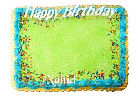 Happy Birthday Nahid Cake Image