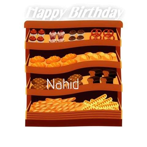 Happy Birthday Cake for Nahid