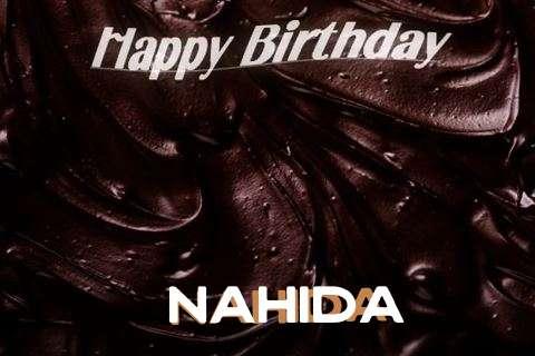 Happy Birthday Nahida Cake Image