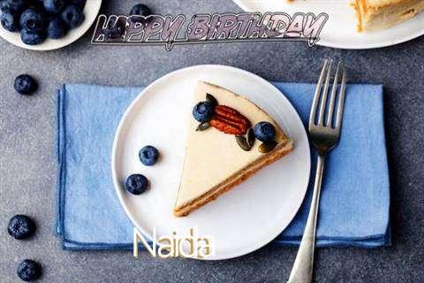 Happy Birthday Naida Cake Image