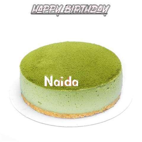 Happy Birthday Cake for Naida