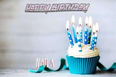 Happy Birthday Naila Cake Image