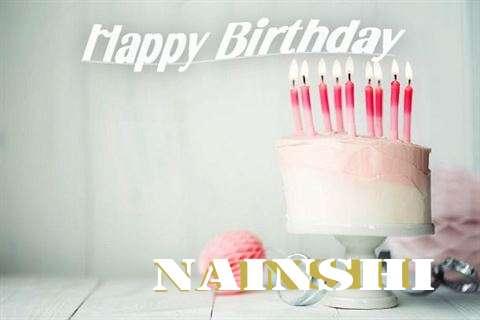 Happy Birthday Nainshi Cake Image