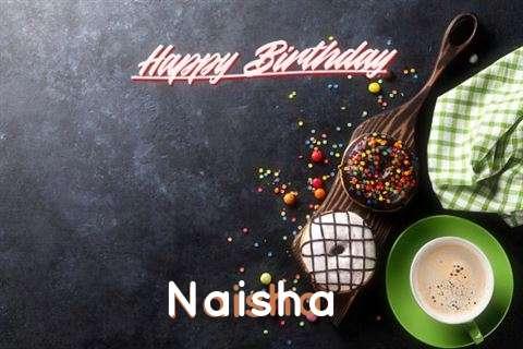 Happy Birthday Cake for Naisha