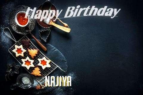 Happy Birthday Najiya Cake Image
