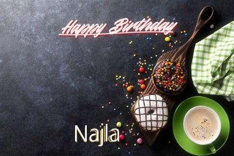 Happy Birthday Cake for Najla