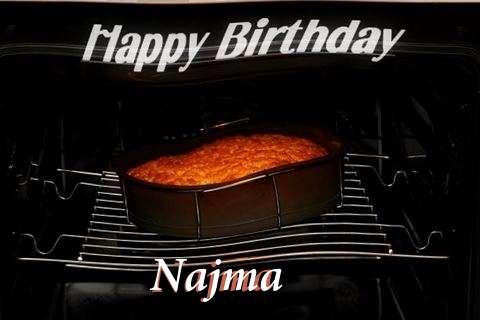 Happy Birthday Najma Cake Image