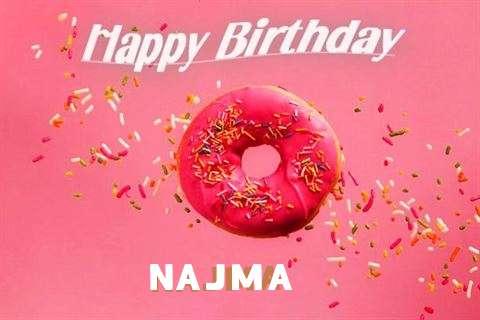 Happy Birthday Cake for Najma